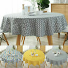 Round Table Cloths Cotton Linen Household Garden Dining Tableware Party Supplies