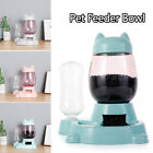 Drinking Dish Cat Ears Shaped Automatic Feeding Container Pet Feeder Bowl