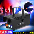500W Portable Smoke Fog Machine RGB LED Stage Light With Remote Controller K H