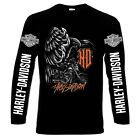 Harley Davidson,men's long sleeve t-shirt,100 cotton,S to 4XL