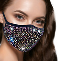 Rhinestones Face Mask - Crystal Bling Sparkly Masks for women Reusable Washable