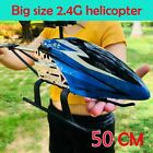 3.5CH Metal RC Helicopter Single Blade 50cm Remote Control With Gyro RTF For Kid