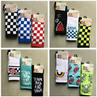 3 Pairs Off The Wall Men's Crew Socks Size 6.5-9