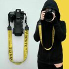 OFF White Camera Strap industrial Shoulder Neck for Digital SLR Multi Colors