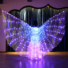 Belly Dance Costume 360  LED Light Isis Wings Sticks Performance Change colorful
