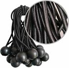"Bulk Lot 6"" Ball Bungee Bungie Cord Tarp Tie Down Tight Strap Canopy Elastic"