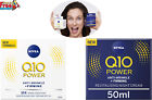 NIVEA Q10 Power Anti-Wrinkle + Firming Night Cream (50 ml), Anti Ageing Cream +