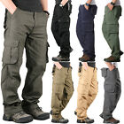 Mens Military Army Cargo Pants Outdoor Casual Workwear Combat Hiking Trousers
