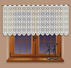 "Kitchen Curtains White Cafe Net Lace 24""  Drop Sold By The Metre"