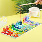 Figures Puzzle Fishing Games Wooden Montessori Logarithmic Board Count Number
