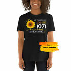 50th Birthday T-Shirt Women, Gift Idea for Wife, Sunshine since 1971