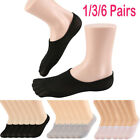 1/6x Men Women Invisible No Show Socks Non Slip Loafer Low Cut Cotton Liner Boat
