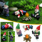 Naughty Gnome Statue Garden Outdoor Decoration Diy Resin Ornaments Funny