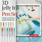 6pcs 3D Glossy Jelly Ink Pen Set For Handwriting DIY Hand Painting Doodle