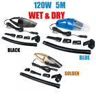 5M Portable Car Home Handheld Vacuum Dirt Dust Cleaner Wet  Dry 1x12V 120W