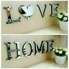 4 Letters Love Home Furniture Mirror Tiles Wall Sticker Self-adhesive Art Decors