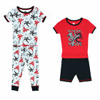New Only Boys Toddler Boy's 4-Piece Ninja Print Short and Long Pajama Set