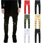 Men Stretch Ripped Denim Jeans Pants Skinny Casual Slim Fit Distressed Trousers