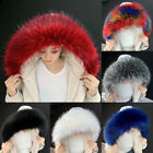 Faux Raccoon Fur Scarf Winter Warm Hood Shawl Fake Fur Scarf Coat Collar A11US