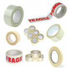 PACKING PARCEL TAPE Brown Clear Fragile Duct Masking Gummed Paper Water Tape 66m