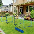 PawHut 4 Piece Dog Agility Starter Kit With Adjustable Height Jump Bars, Carry