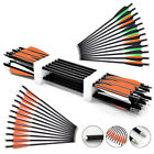 12pcs 20 inch Crossbow Bolts Carbon Crossbow Arrows & Broadheads Set for Hunt US