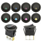 LED Switch 12V DC Universal Multi Coloured CLEARANCE