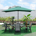 Patio Seaside Furniture Set Table And Chairs With Umbrella & Parasol Base Garden
