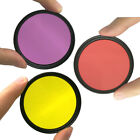 Pro 37 52 58 67mm Diving Full Red Yellow Purple Color Filter Underwater For DSLR