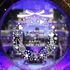 Wall Window Stickers Christmas Decals Gift Wreath Home Shop Diy Xmas Party Decor