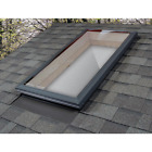 Fixed Curb Mount Skylight Polycarbonate Aluminum Frame UV Protection Bronze