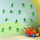 Army Men Soldiers Military Boys Wall Sticker Childrens Diy Deco Decal Kids A282