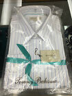 TOMMY BAHAMA MENS DRESS SHIRT-WHITE W/LIGHT BLUE STRIPE