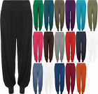 New Womens Stretch Elasticated Ladies Baggy Harem Leggings Trousers Pants 8-14