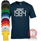 MADE IN 1984 birthday celebration fancy dress T-shirt