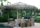 Tiki Hut/Palapa withThatch Roof Kit 4 pole-12 Foot Diameter