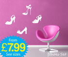 wall stickers, wall deco, wall art, Shoes, Shoes x 4