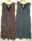 New Monsoon Black Blue OR Red Chiffon Dress 8 10 12 14