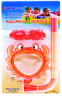 Child Learn to Swim Class Mask Snorkel Kit Kids SHARK dolphin Crab Frog Goggle