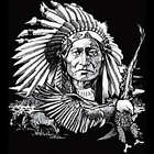 SITTING BULL AND EAGLE GIFT T-SHIRT FEATHERS SPIRITS Gildan Ultra Cotton Tee