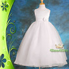 Wedding Flower Girl Bridesmaid Pageant Dress Size 1-8