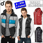 URBAN CLASSICS   Herren STEPP WESTE JACKE Hooded Bubble WETLOOK Steppweste