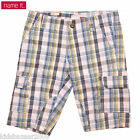 Name It Boys blue check cargo shorts Size 1.5-2 3-4 6-7 7-8