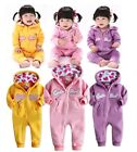 Toddler Baby Girl Cute Princess Track Suit Romper Sporty Athlete Outfit 3-24M