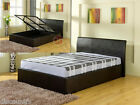 MODERN FUSION FAUX LEATHER OTTOMAN STORAGE BED FRAME