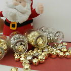 10 x christmas bells silver or gold various sizes