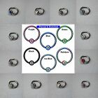 6mm 8mm 10mm BCR CBR HOOPS with gem ball Tragus / Ears / Nose in 1.2mm or 1.6mm