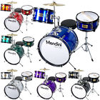 Mendini 16 inch 3 Piece Junior Jr Kids Drum Set Black Blue Green Silver Red