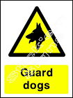 Guard Dogs Sign - COUN0001 Stickers & Signs