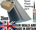 20mm High GARAGE DOOR RUBBER FLOOR SEAL & Adhesive HEAVY DUTY Kit *All Sizes*